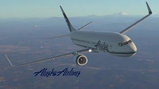 Alaska Airlines (Boeing B737-900) - TakeOff & Landing