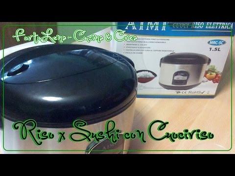 """Riso per Sushi con Cuociriso """"Aimi Mrc-5c 1,5lt"""" Ricetta (Sushi Rice with RiceCooker)"""