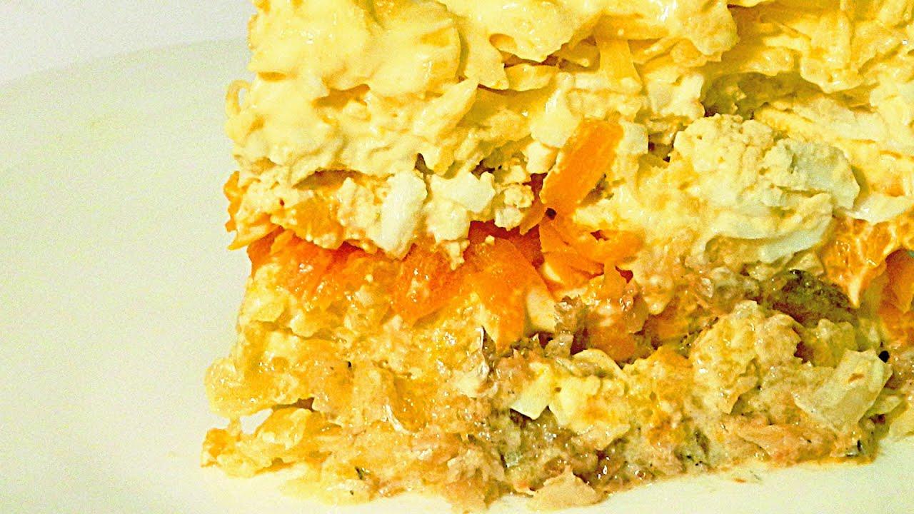 Салат со шпротами слоями рецепт