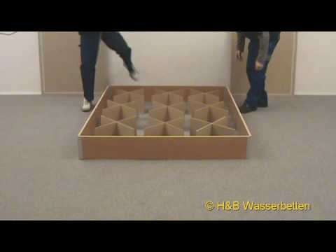 aufbau wasserbett sockel youtube. Black Bedroom Furniture Sets. Home Design Ideas