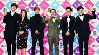 Running Man attend SBS entertainment award 2016 with 6 Members