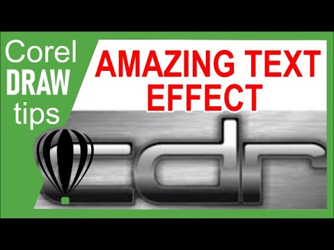 Text special effects in CorelDraw