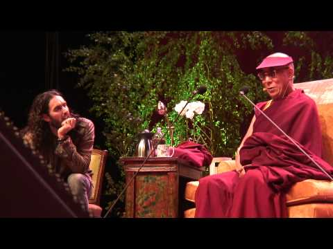 His Holiness the Dalai Lama Meets Russell Brand