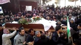 شام ريف دمشق دوما تشيع الشهيد البطل عبد الله ...