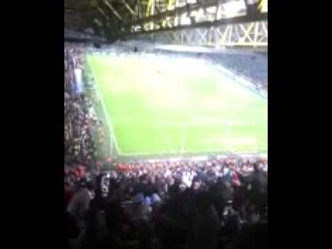 Gareth Barry song in Dortmund at HT