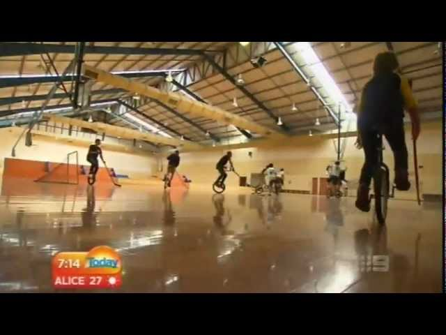Channel 9 Today show - Unicycle Hockey