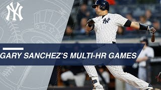 Sanchez is fastest to hit nine multi-home run games