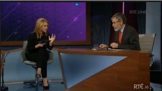 Claire Byrne Live - Gerry Adams and Joan Burton debate.