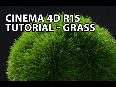 NEW Cinema 4D r15 Tutorial: Grass (Beginner)