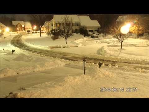 Snowfall time lapse and clean up 12-14 February 2014