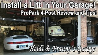 Can you install a lift? 4-Post Lift Review and Tips! (Direct Lift Pro Park 8S)