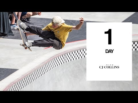 CJ Collins Rips Vans' Newest Skatepark | One Day