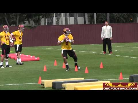 USC Spring Football Day One - Quarterback Drills
