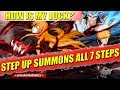 Bleach Brave Souls STEP UP SUMMONS ALL 7 STEPS COMPLETED