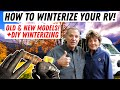 How To Winterize Your RV! Old/New Models and DIY Winterizing