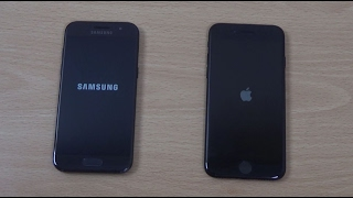 Samsung Galaxy A3 2017 vs iPhone 7 - Speed Test!