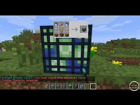 Minecraft 1.7.2 Review de INSTANT BLOCKS MOD ESPAÑOL TUTORIAL