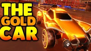 How To Make The GOLDEN Car In Rocket League...