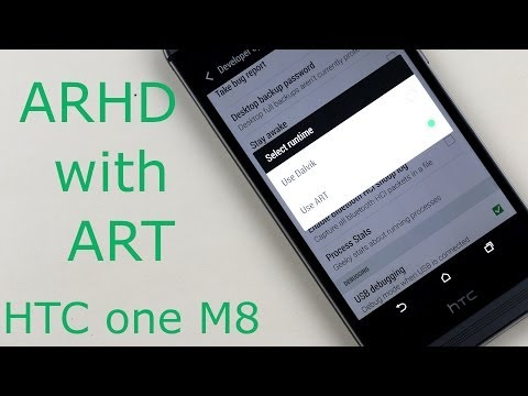 HTC One M8 - How to install Android Revolution HD Rom with ART