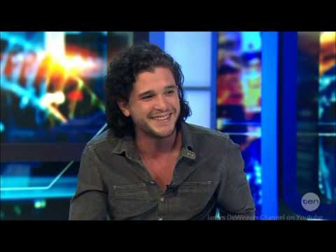 Kit Harington - Game of Thrones Jon Snow LIVE Australian Tv Interview 5-3-2014