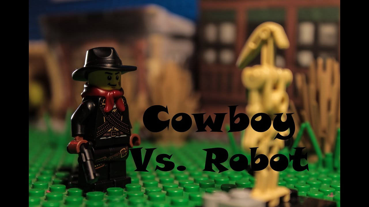 Cowboy Robot Movie Cowboy vs Robot in Lego