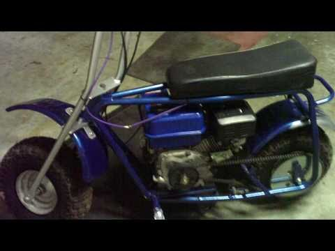 Doodle Bug minibike with 6.5hp HF clone and a new paint job