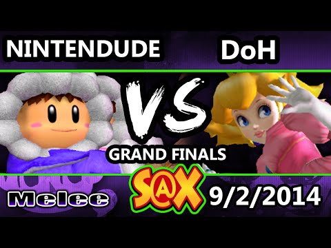 S@X - Apex | Nintendude (Ice Climbers) Vs. DoH (Peach) SSBM Grand Finals - Smash Melee