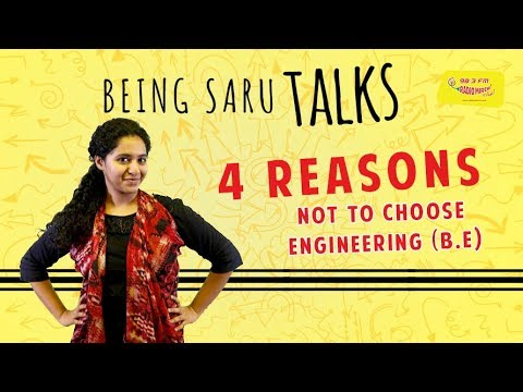 Being saru talks - 4 reasons not to choose Engineering thumbnail