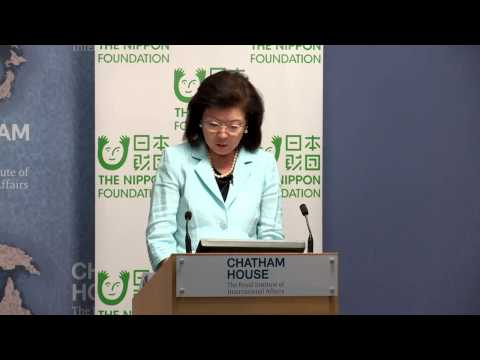 Akiko Yamanaka, Special Ambassador for Peacebuilding of Japan; Vice Minister for Foreign Affairs of