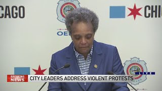 Mayor Lightfoot gets emotional addressing Chicago looting, violence