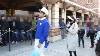 腰が砕けたファンカスト・ミネザキさん(^^) 2018.01 ディズニーシー TDS  Tokyo Disney Sea