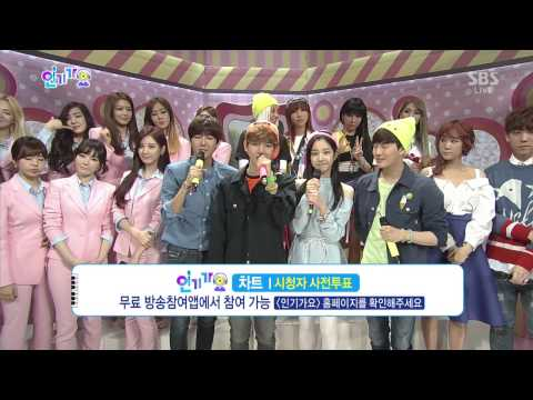 SBS Inkigayo SNSD Interview & Ending 16.3.14 HD