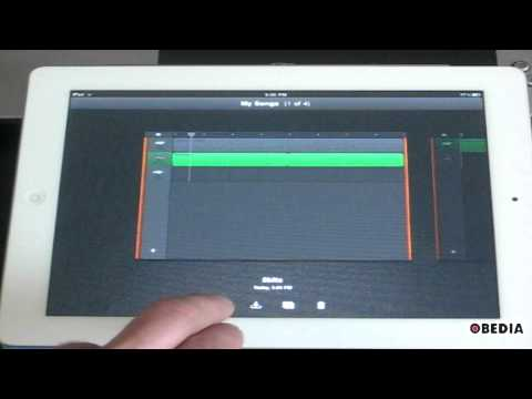 Export a song from Garageband on the iPad