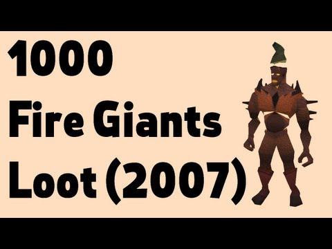 Loot from 1000 Fire Giants + my first 07 PK