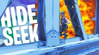 HIDE & SEEK WEDSTRIJD #2 MINI-GAME!  - Fortnite: Battle Royale Playground (Nederlands)