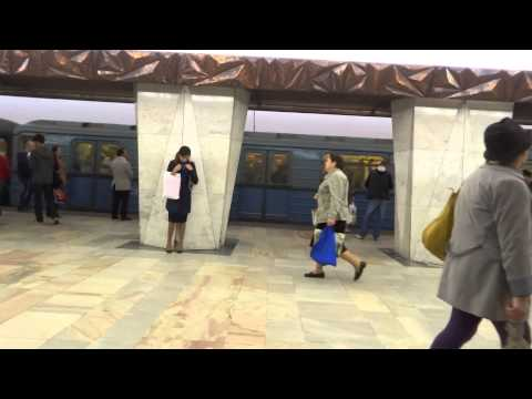 Ride on the metro in Moscow, Russia  Москва, Россия