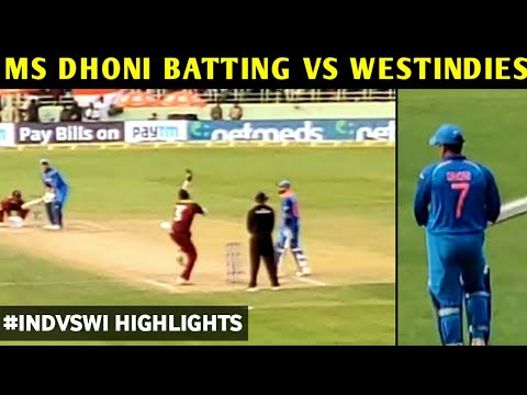 Ms dhoni yesterday match batting | india vs west indies 2nd odi highlights | Latest 2018 |