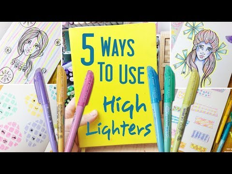 5 Ways to Use Highlighter Pens in Your Sketchbook: More Drawing Ideas and Ways to Fill a Sketchbook