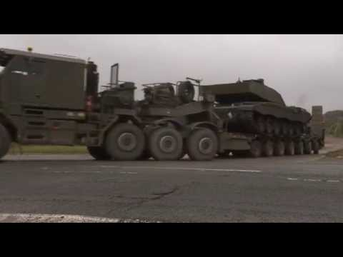 British Army Transports Vehicles to NATO Exercise 29.09.14
