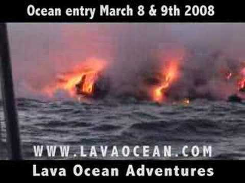 Lava Ocean Entry March 7 & 8th 2008 aboard the LavaKat part1