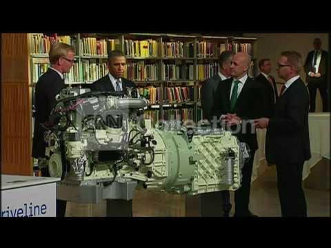 SWEDEN:PRESIDENT OBAMA AT ENERGY EXPO