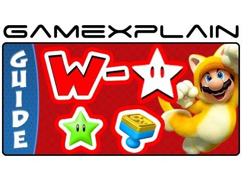 Super Mario 3D World - All Star World Green Stars & Stamps Guide & Walkthrough