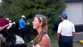 Tiger Woods signing autographs @ TPC Boston