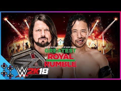 Greatest Royal Rumble: AJ Styles vs. Shinsuke Nakamura - WWE Title Match - WWE 2K18 Match Sims