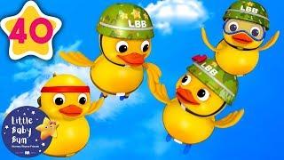 Six Little Ducks | Baby Songs | +More Nursery Rhymes & Kids Songs | Little Baby Bum
