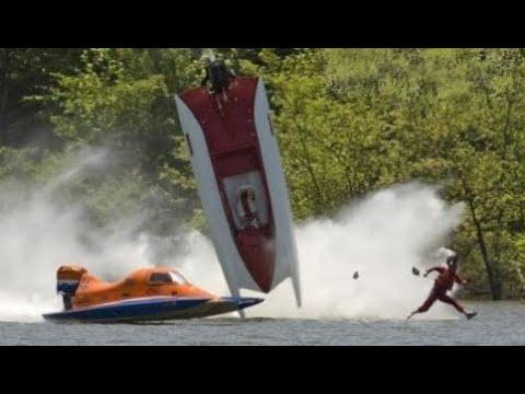 Drag Boat Racing Crash Compilation. Аварии Сверхскоростных Катеров