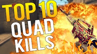 CS:GO - Top 10 BEST PRO QUAD KILLS IN THE HISTORY OF CSGO!