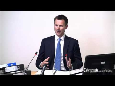 Leveson Inquiry: 'I did not hide behind a tree', says Jeremy Hunt