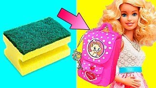 DIY Barbie Dresses | Making Easy Clothes and Barbie Doll Miniatures | Creative Fun For Kids
