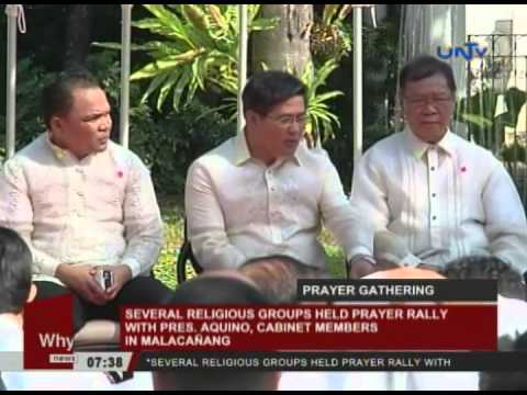 Several religious groups held prayer rally with pres. Aquino, cabinet members in Malacanang